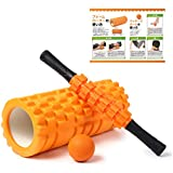 SneeperZ フォームローラー 筋膜リリース 3点セット説明書付き 筋膜 ローラー ストレッチローラー マッサージボール