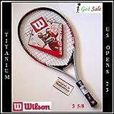 """おもちゃ Wilson Roger Federer & Serena Williams Titanium US Open 23"""" Junior Tennis Racket スポーツ アウトドア [並行輸入品]"""