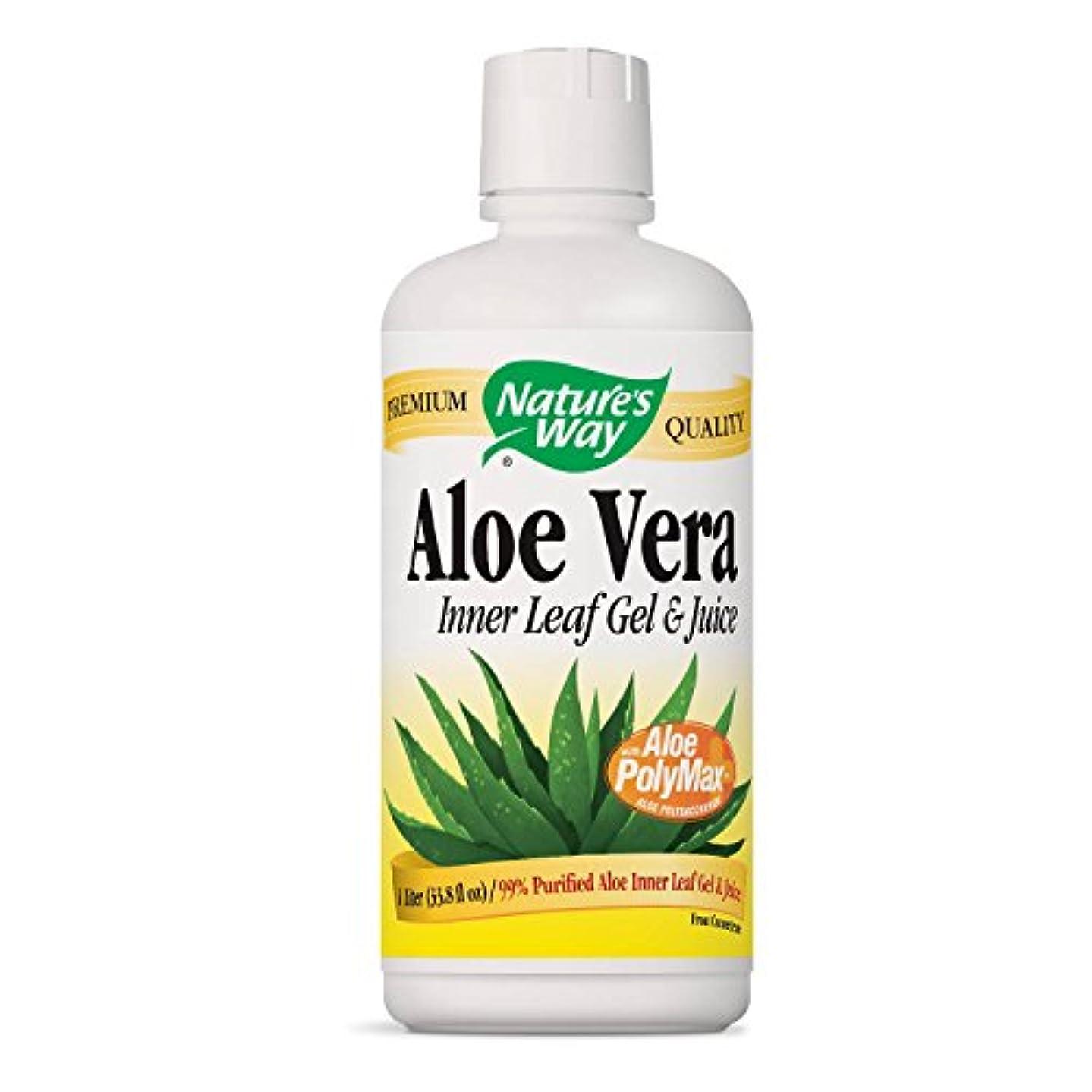 叙情的な機密療法Aloe Vera Leaf Gel & Juice 1L (海外直送品)