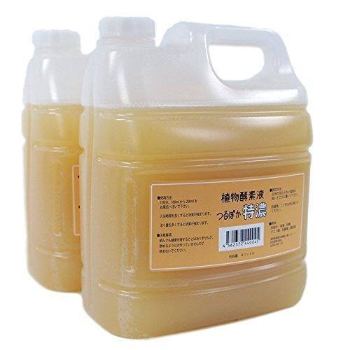 植物酵素液つるぽか特濃 4L×2個セット 【発酵液】 【入浴用】