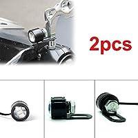 FidgetGear 2PCS-LEDオートバイヘッドライトハンドルバースポットライトデイタイムライトドライビングフォグxランプ