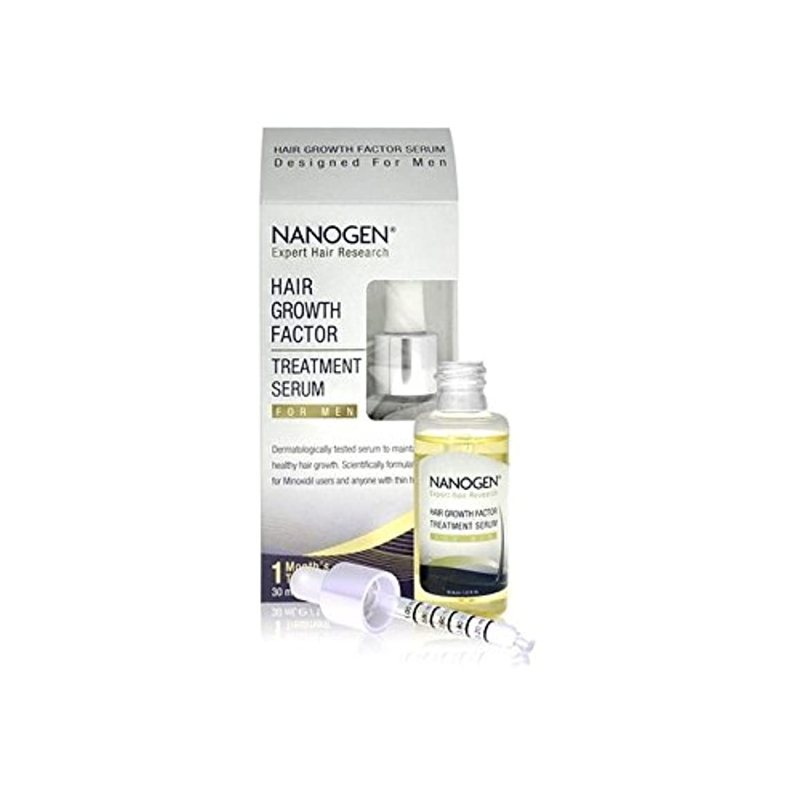 恥ノイズ遺体安置所Nanogen Hair Growth Factor Serum For Men (30ml) - 男性のためのの髪の成長因子血清(30ミリリットル) [並行輸入品]