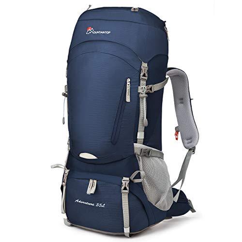 Mountaintop 55L/65L 登山バッグ 大容量 ザック 登山 リュック 防水 ハイキング バックパック キャンプ 防災 旅行用 リュックサック アウトドア バッグ 軽量 レインカバー付き