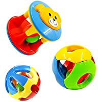 YENJO キッズ かわいいハンドベル 音楽発達玩具 赤ちゃん用ガラガラ玩具 1435364753426