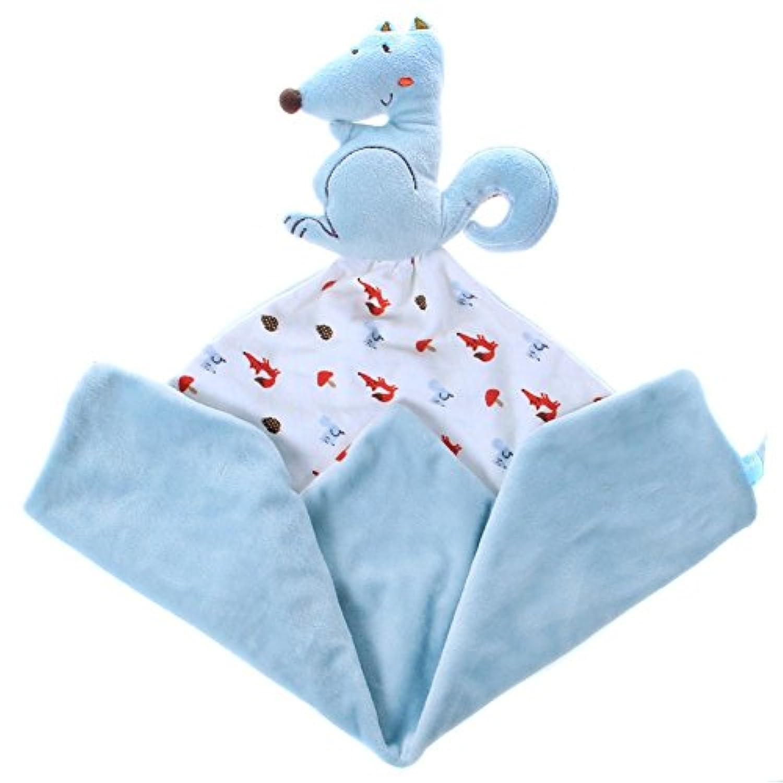 Labebe ベビー用癒しタオル キッズ用抱っこタオル 赤ちゃんのおしゃぶりぬいぐるみおもちゃ 幼児のクリエイティブな誕生日プレゼントとしてもオススメ! - ブルーリス