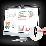 Vansky クランプライト スクリーンバー モニター掛け式ライト クリップ式 ライト クリップライト デスクライト 目に優しい 三段階調光 角度調節可能 USB充電可 PC作業/仕事/寝室/卓上/読書/譜面台/ピアノ/オーケストラピットに対応