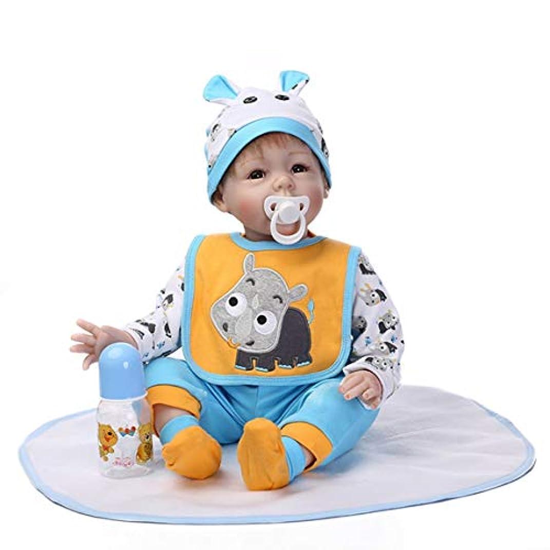 反対した不規則な先見の明素敵なかわいい赤ちゃん人形ソフトシリコン人形服模造赤ちゃんマタニティマトロントレーニングツール子供の誕生日ギフト-ブルー
