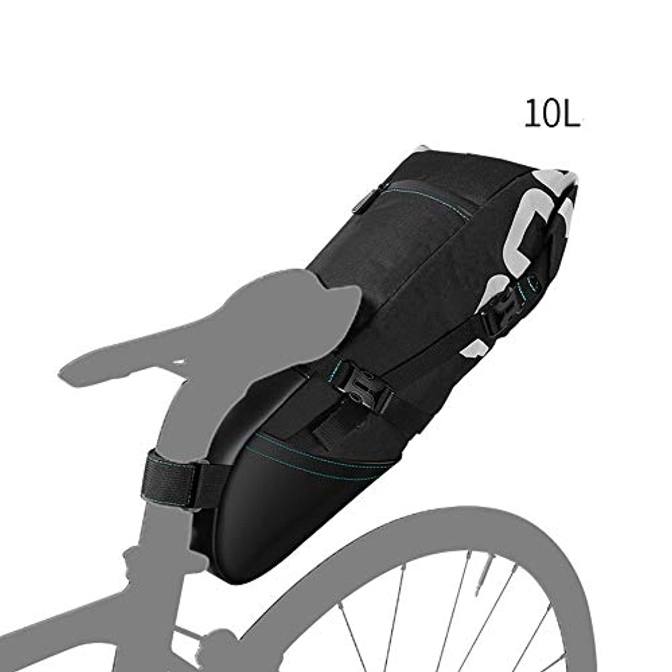 浸漬に対して手綱Bert100 Studio 自転車サドルバッグ10L大容量自転車シートバッグ防水性と耐久性のあるサドルバッグ多機能 うまく設計された