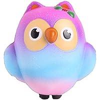 Staron SquishiesフクロウSlow RisingジャンボSquishy Kawaii Cute Animalsクリーム香りつきキッズパーティーSquishy Toys応力Relieverのおもちゃ マルチカラー 664210154757