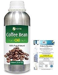 Coffee Bean (Coffea arabica)100% Natural Pure Carrier Oil 1000ml/33.8fl.oz.