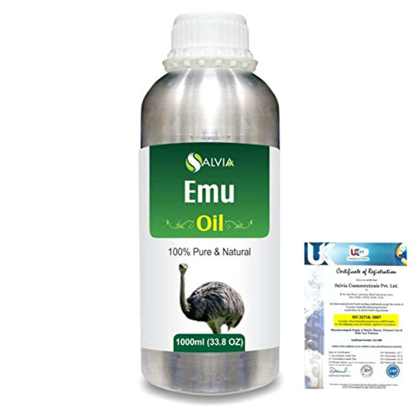 放棄悲惨な小説Emu 100% Natural Pure Oil 1000ml/33.8fl.oz.