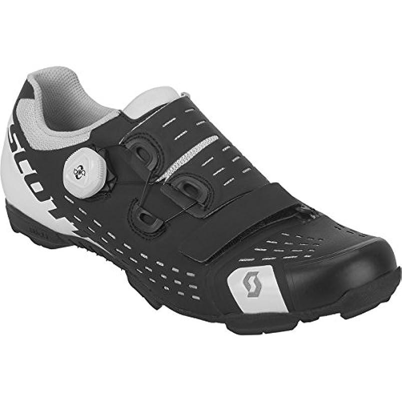 接地慰め家畜スコット?MTB Premium Shoe – Men 'sマットブラック/グロスホワイト、47.0