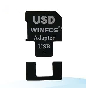 【BlueSea】microSDカードをSDカード・USBに簡単変換 2in1Adapter(microSD→SDカード・microSD→USBに変換可能) USDカードリーダーライター