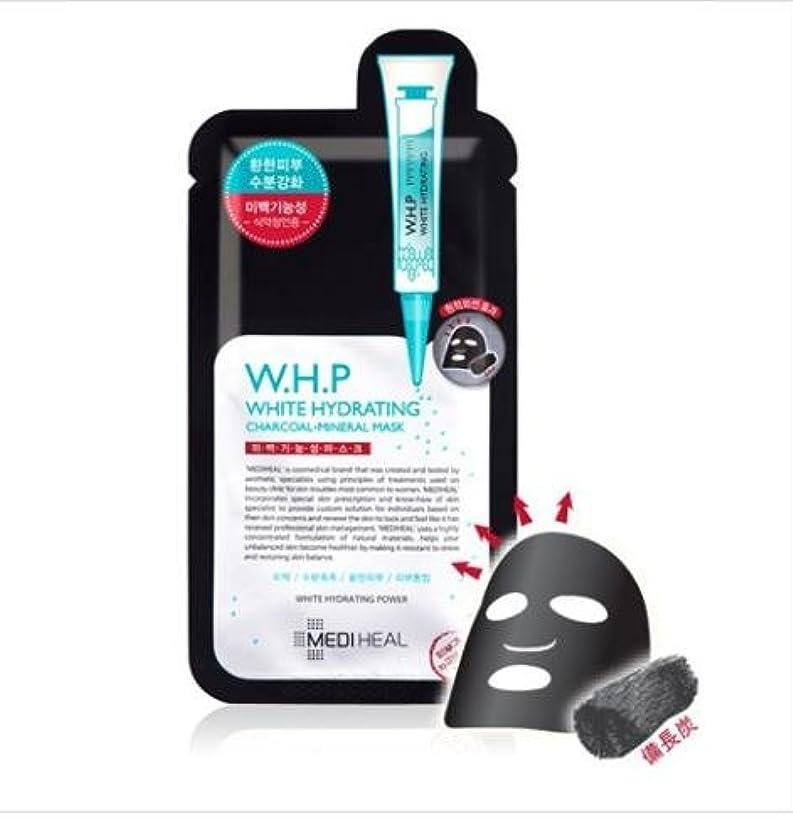 [メディヒール] Mediheal [W.H.P 美 白水分 ミネラル 炭 マスクパック (10枚)] (W.H.P White Hydrating Charcoal Mineral Mask (10EA)) [並行輸入品]