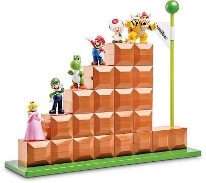 アミーボ ディスプレイ スタンド スーパーマリオ ゴール6体 ディスプレイ可能 amiibo マリオ 階段 海外