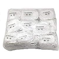 Maltose 使い捨てシャワーキャップ 100枚セット 個別包装 化粧帽 髪を染める 透明 油煙を防ぐ 浴用帽子 耳栓付き