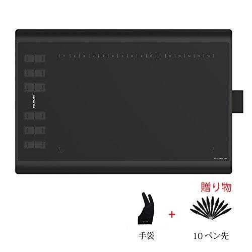 HUION 10*6インチペンタブ 8192レベル筆圧感知 new 1060Plusペンタブレット