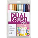 Tombow 56216 Dual Brush Pen Art Markers, Cottage, 10-Pack. Blendable, Brush and Fine Tip Markers
