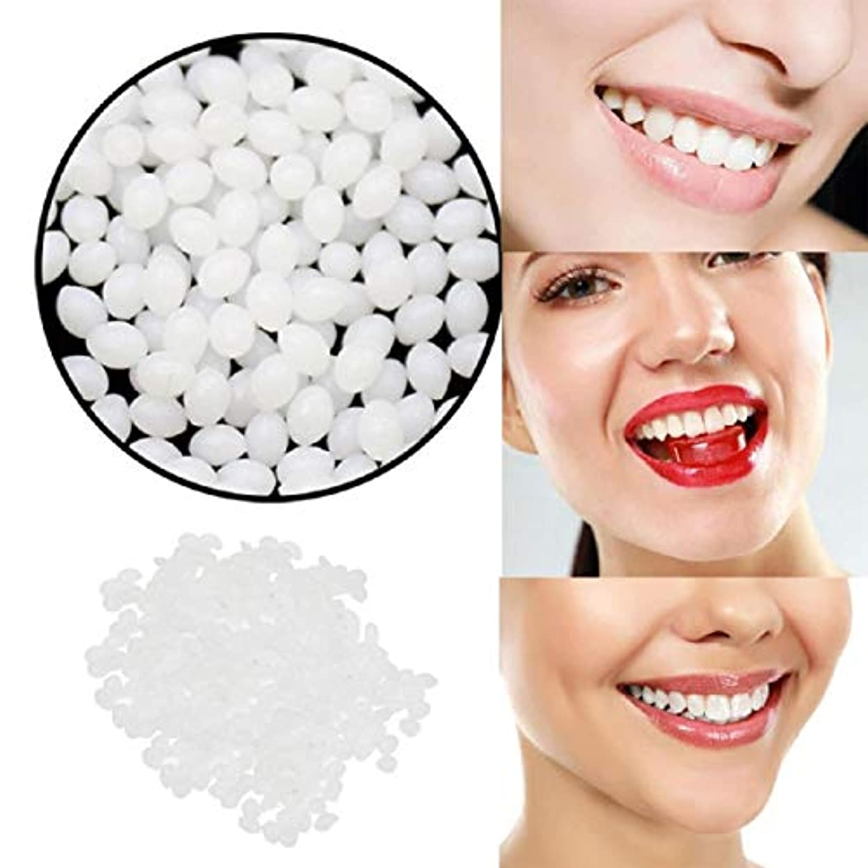 気になる評価彼のBarlingrock一時的な歯の修理歯キットとギャップ 固体接着剤ホワイト義歯接着ツール用女性
