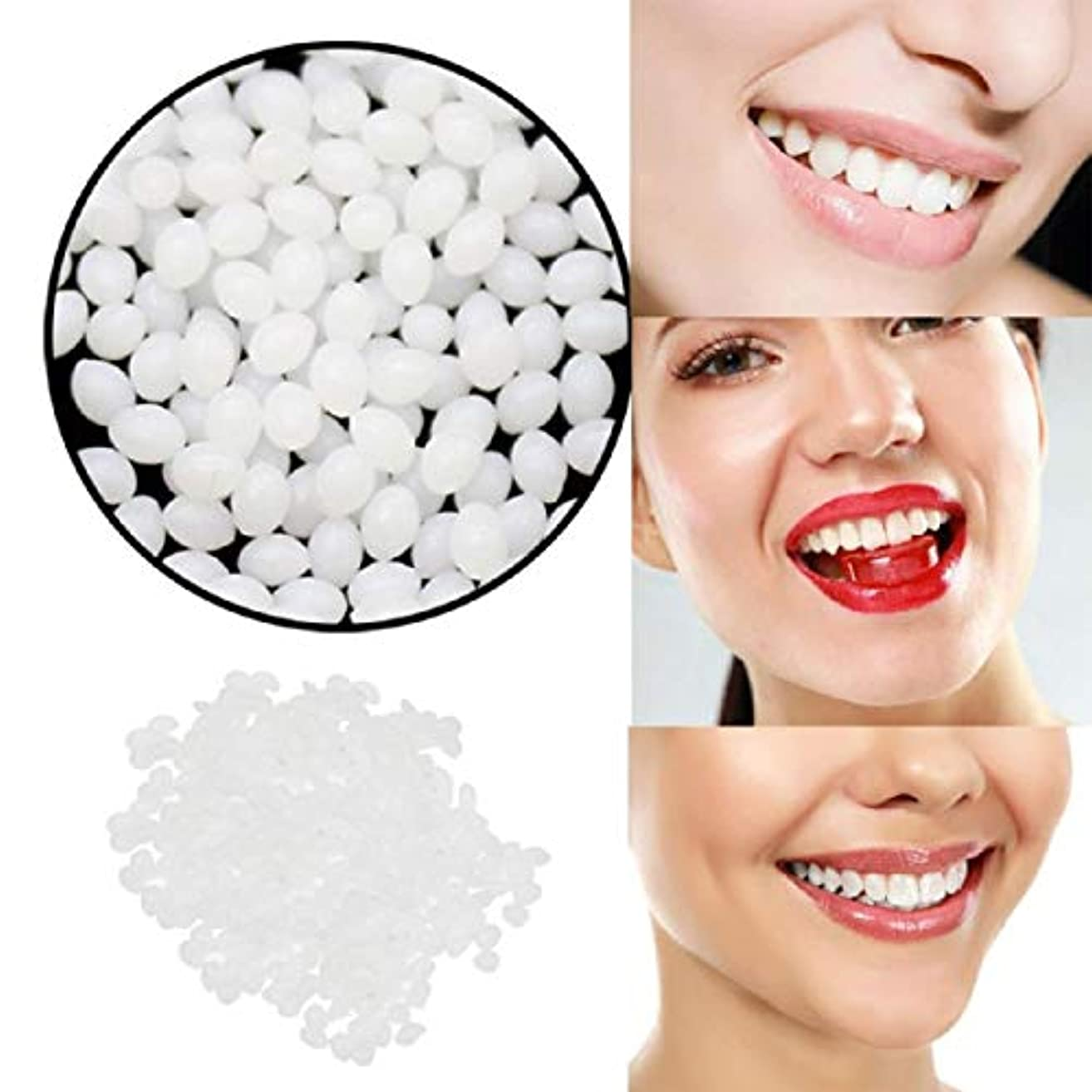等定説煙Barlingrock一時的な歯の修理歯キットとギャップ 固体接着剤ホワイト義歯接着ツール用女性
