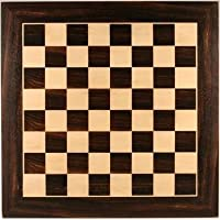 WE Games Grand Chess Board - Black Stained & Natural Wood 21 in.