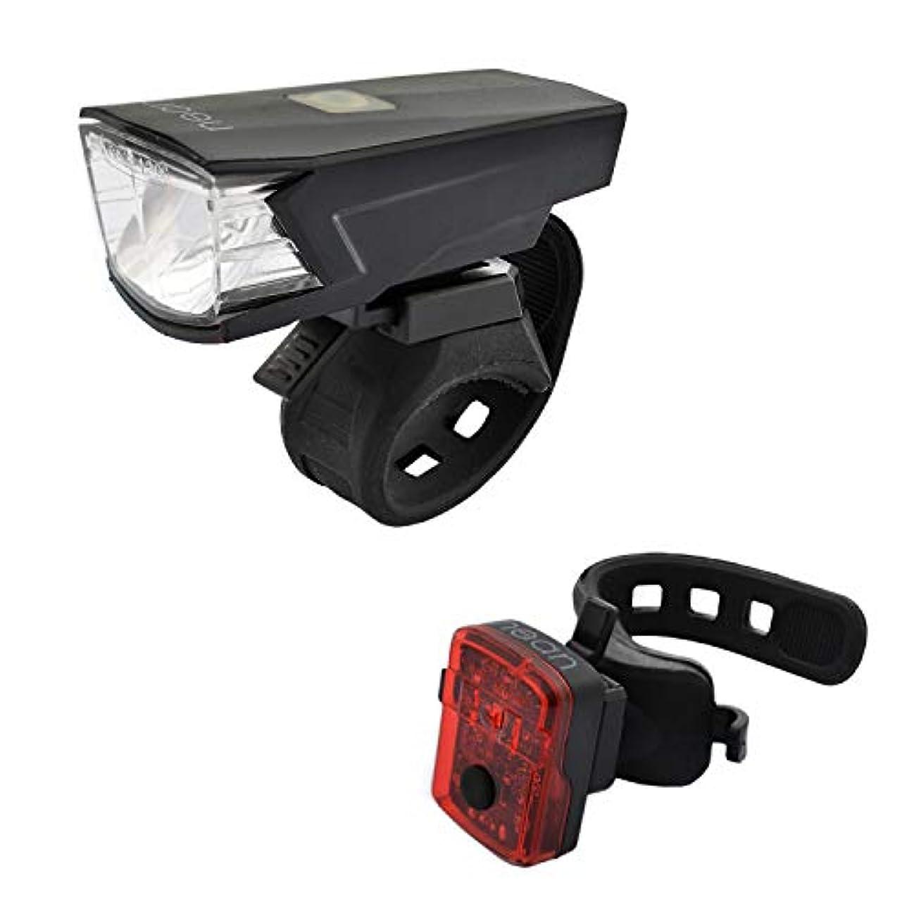 狂信者マウスピース無人バッテリーとStVZO認証30 LUX 5 Candela付きNEAN自転車用照明セット