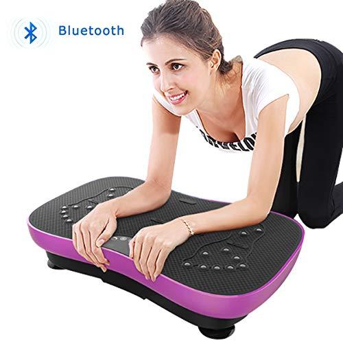 【DEARGENA】3D 振動マシン 脂肪燃焼 エクササイズ 有酸素運動 ダイエット ブルブル振動マシン ぶるぶる フィットネス ダイエット器具 筋トレ 器具 振動マシーン 振動 ダイエット器 Bluetooth接続 音楽プレイヤー機能付 (パープル)