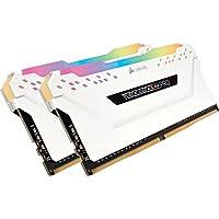 CORSAIR DDR4-2666MHz デスクトップPC用 メモリモジュール VENGEANCE RGB PRO シリーズ 16GB [8GB×2枚] CMW16GX4M2A2666C16W