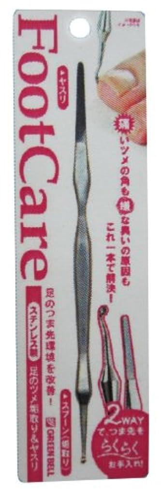 ニッケル褒賞スーダンステンレス製足のツメ垢取り&ヤスリ PSG-021