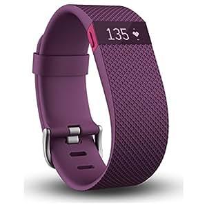 【日本正規代理店品】Fitbit ワイヤレス活動量計+心拍計リストバンド ChargeHR Large PLUM FB405PML-JPN