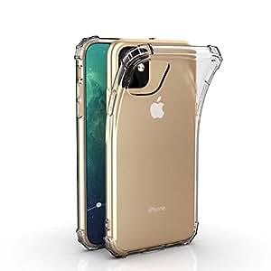iPhone XI ケース [エアクッションの設計] ALLFUN アイフォンXI カバー 全面保護 衝撃吸収 キズ防止 iPhone XI 用バンパー クリア (5.8インチ)