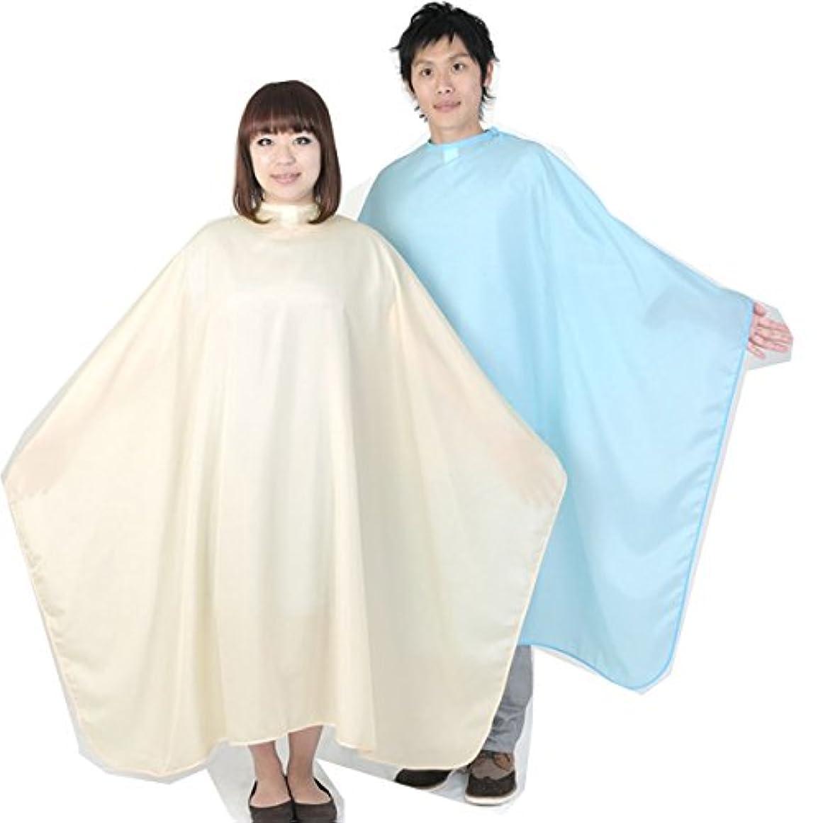 鷲絶対にそっとエクセル No.3112 ビッグ刈布 袖無し カット専用 ポリエステル100% 日本製 カットクロス?散髪ケープ?散髪クロス (ベージュ)