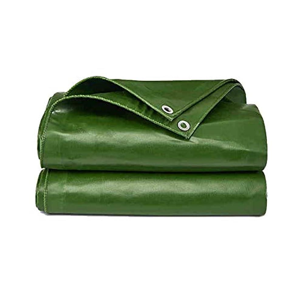 腐った一なんとなくZX タープ ターポリン 緑色 日焼け止め アウトドア サンシェード防水 そして UV保護、アイレット付き テント アウトドア (色 : 緑, サイズ さいず : 7X5M)
