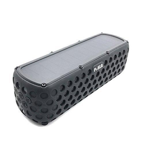 PeSLA SolarSound Bluetooth 防水 ポータブルスピーカー ソーラー充電 10W 防塵 耐衝撃 IPX5級 【 30時間連続再生可能/日本語説明書/1年保証付 】 Pe-001btst