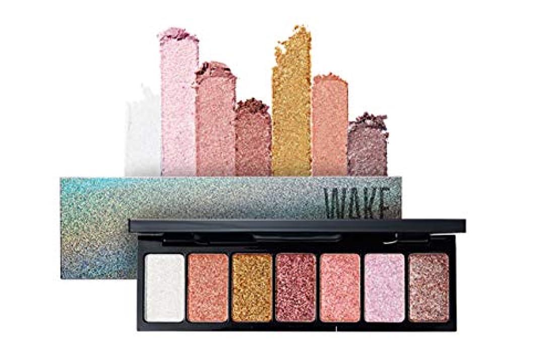 ファブリック売上高不注意WAKEMAKE Pocket Styler Eyeshadow Palette 7色のアイシャドウパレット-Dress Up Glitter(並行輸入品)