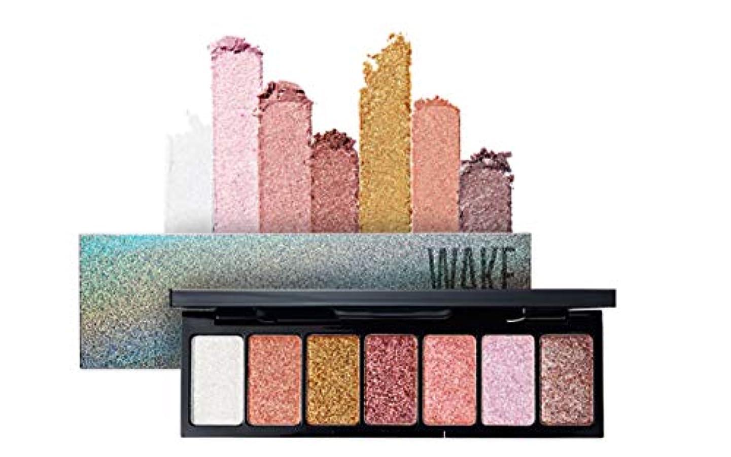 伝統理論的キモいWAKEMAKE Pocket Styler Eyeshadow Palette 7色のアイシャドウパレット-Dress Up Glitter(並行輸入品)