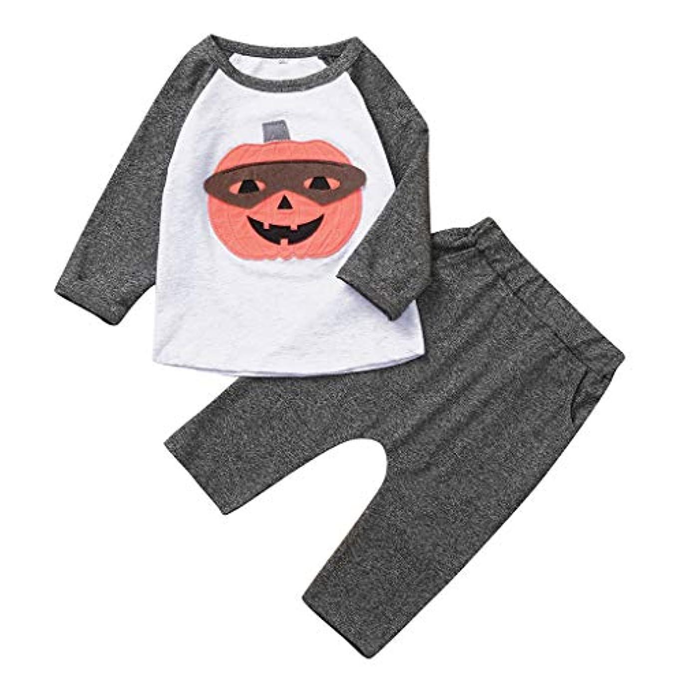 ボイドお母さんスキームMISFIY ハロウィーン キッズ 子供 新生児 ベビー服 上下セット かぼちゃ パジャマ 肌着 かわいい 柔らかい 誕生記念 出産祝い 寝相アート