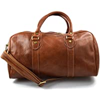 Leather Duffle Bag Genuine Leather Travel Bag Overnight Bag matt Brown 2486dfbdd857d