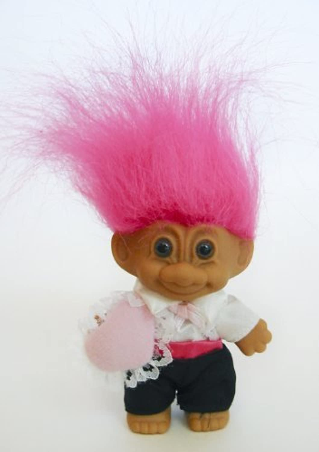 My Lucky Mini RING BEARER Troll Doll (Hot Pink Hair) by Russ Berrie [並行輸入品]