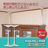 家具転倒防止伸縮棒 【小2本組/30~45cm】 (地震防災対策) ds-1211245