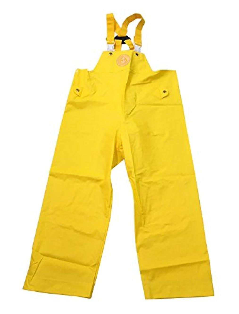 スキャン補助オッズKURAHUTERU(クラフテル) イカリ印 フィッシャーマン レインウエアー 胸付ズボン 6L イエロー 11EA153