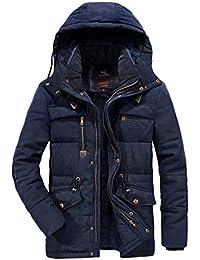 メンズ アウター 中綿ジャケット ダウン式コート 裏起毛 ボアジャケット 分厚い アウトドア フード着脱可 冬コート