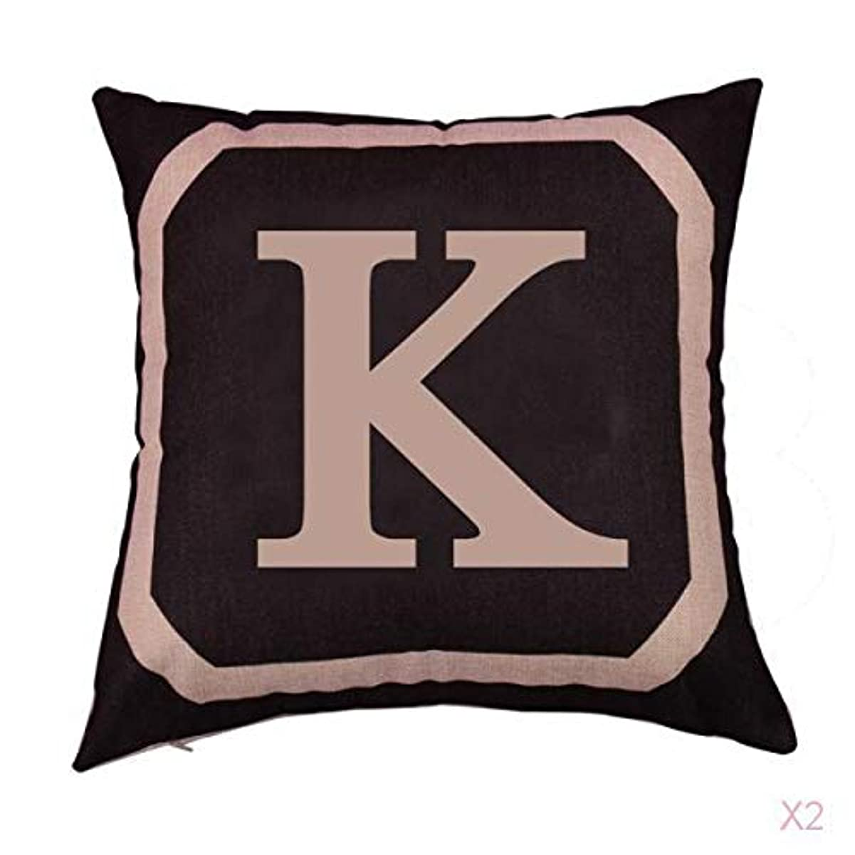 侵入敵対的驚くべき正方形の綿のリネンスローピローケース腰クッションカバーベッドソファ装飾kを