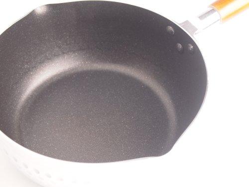 パール金属 雪平鍋 20cm ガス火専用 アルミ 内面4層 マーブル加工 マーブルミラー H-6452【ガス火専用】