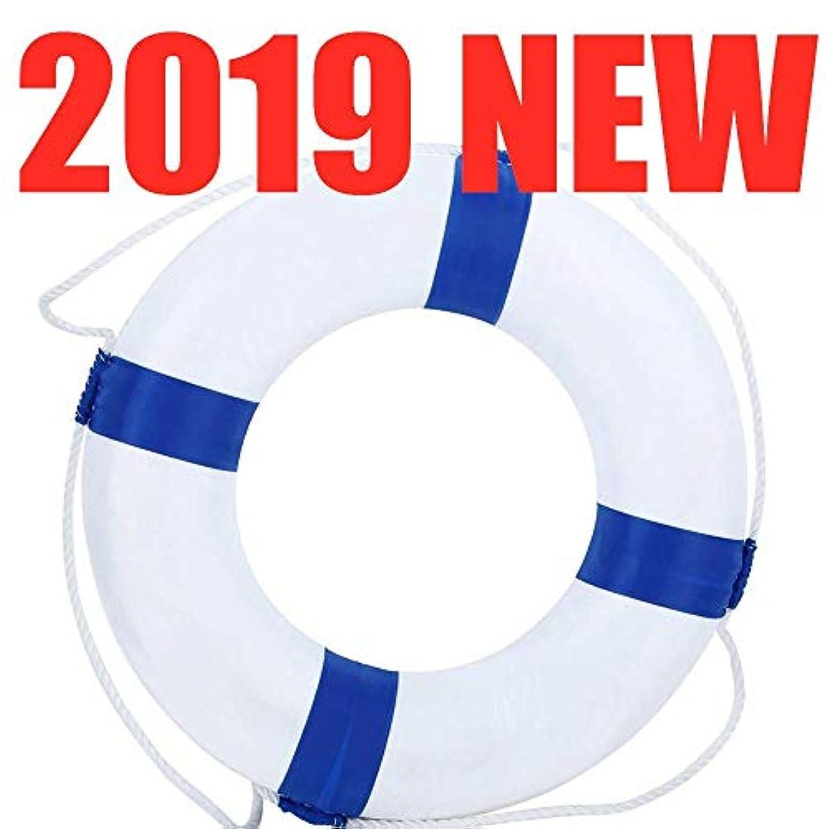 極めて経済的に頼るHBMLR Lifebuoy 直径52cm 20.5インチ ウェルカムクロス 装飾ライフリング ブイ ホーム 壁 航海装飾 ブルー