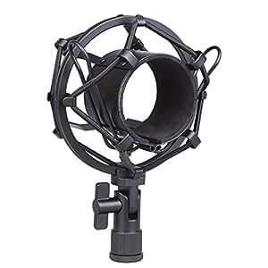 Koolertron  ショックマウント サスペンションホルダー 振動防止  48mm-54mmに対応 (ブラック)