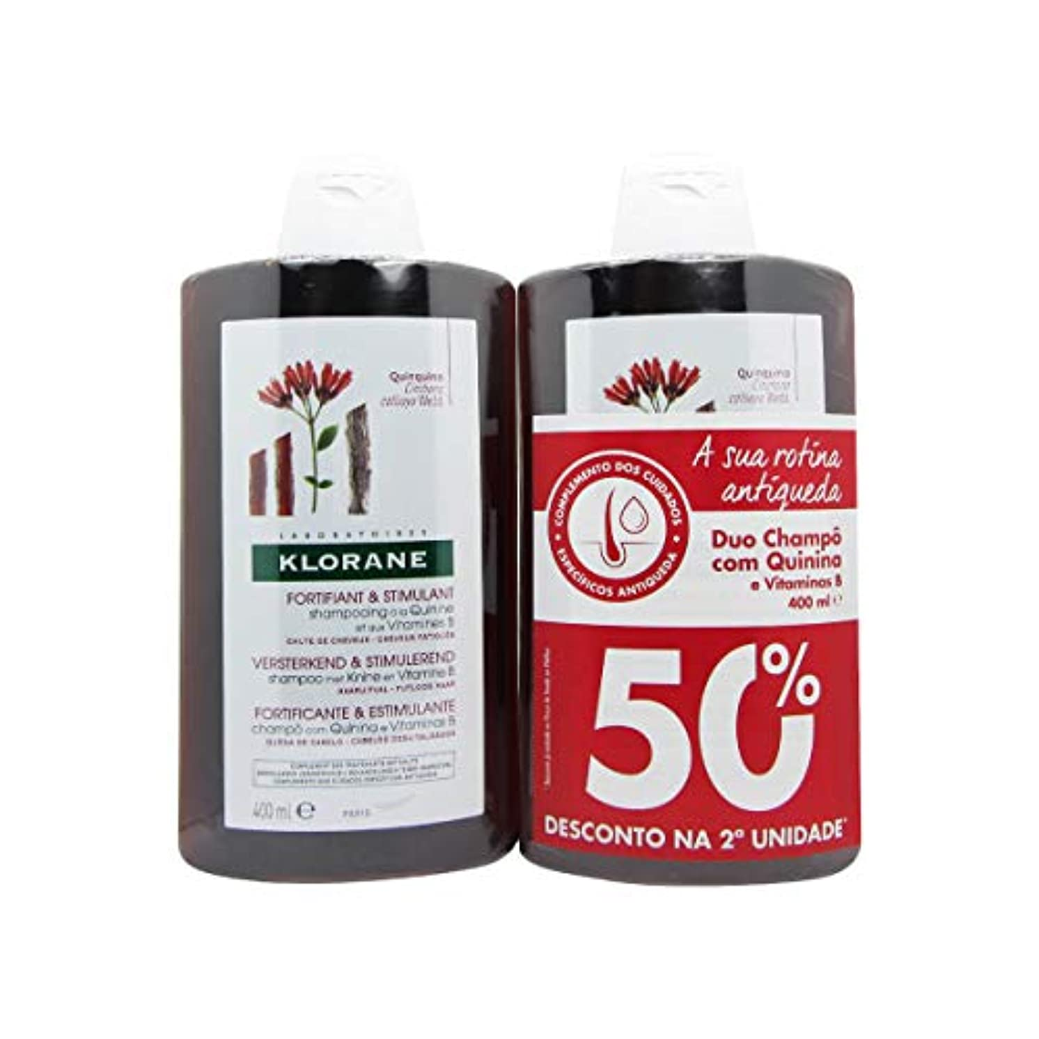 ソースねじれ定期的にKlorane Fortifying Shampoo with Quinine 2x400ml