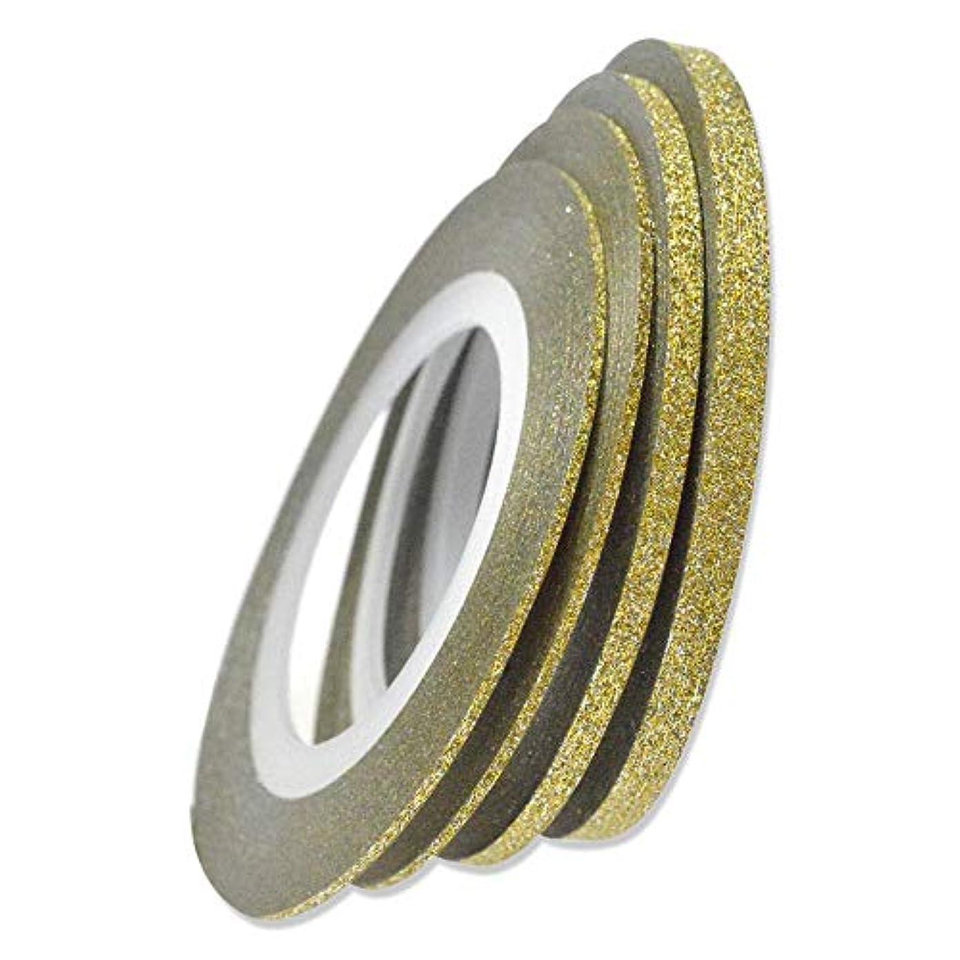 ベット発表安心SUKTI&XIAO ネイルステッカー 1ロールネイルアートキラキラストライピングテープラインレーザーシャイニングゴールド/シルバー1/2 / 3Mm新しいネイル転写箔ステッカー、3Mmゴールド