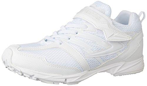 [スーパースター] 運動靴 通学履き 靴 キッズ バネ 軽量 マジック ゆったり  SS J755 ホワイト 205(20.5 cm) 2Eの詳細を見る
