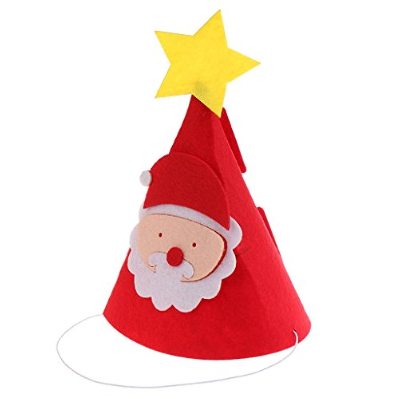Dovewill 子供 大人適用 フェルト製 クリスマスデザイン 帽子 サンタクロース、スター、鹿角スタイル クリスマスハット 全4デザイン - 3